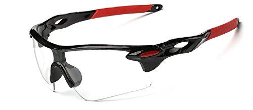Embryform Sport-Reitbrillen, Radsport-Wrap-Sonnenbrillen, für Skifahren Golf Reiten Angeln Wandern und alle Outdoor-Sport Sonnenbrillen Pro Sonnenbrillen Eyewear Goggles Pouch-Hard-Schutz-Box