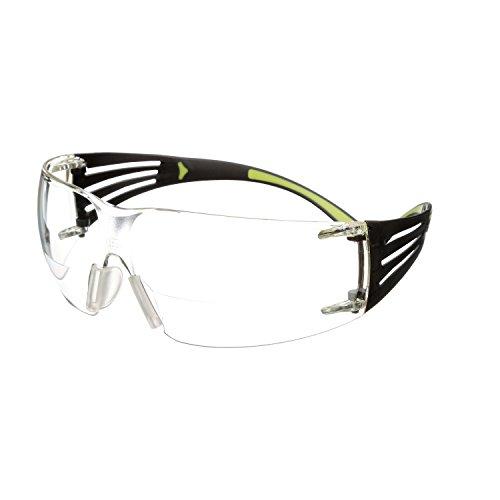 3M Schutzbrille SecureFit sf420af Reader Sicherheit Gläser, Scratch/Anti Fog, + 2.0Objektiv, transparent