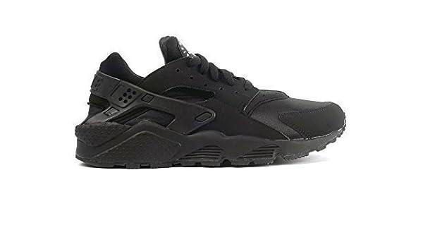 low priced 02cb3 2ca04 Nike Mens Air Huarache Triple Black Nubuck Mesh Trainer Size 12 UK   Amazon.co.uk  Clothing