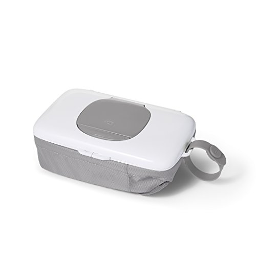 OXO TOT On The Go Wipes Dispenser with Nappy Pouch (Grey)