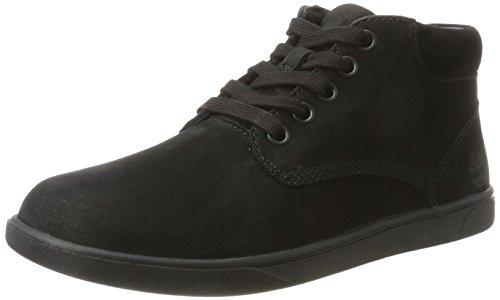 Timberland Kids Groveton Leather Chukka Boots, Schwarz (Black), 39 EU (Schwarz Leder Chukka)