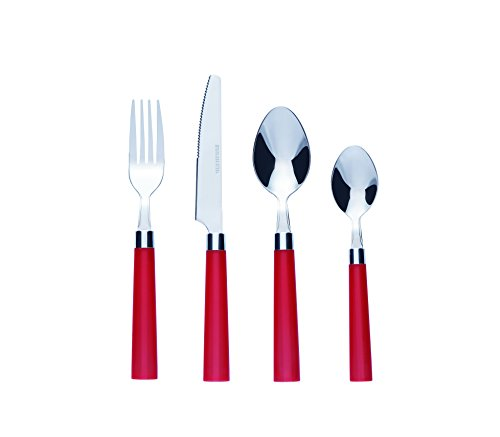 Bon Florentine 16-Piece Stainless Steel Cutlery Set - Red