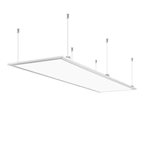 Anten LED Panel Hängeleuchte Deckenleuchte Deckenlampe, 60W, 4000 Lumen, Tageslichtweiß-6000K, rechteckig 30x120 cm, IP20, mit Befestigungsmaterial und LED Treiber