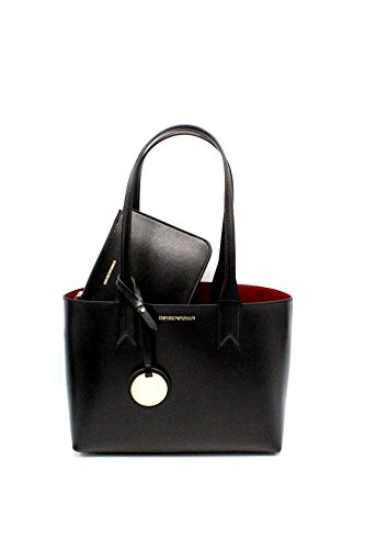Emporio Armani Frida Small Eco Leather Shopper One Size BLACK