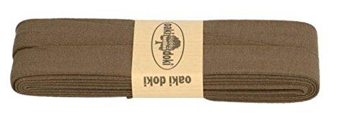 Oaki Doaki Jersey-Einfassband 3m, elastisches Schrägband, Breite: auf 2cm vorgefalzt, braun (411) (Baumwoll-jersey-band Aus)