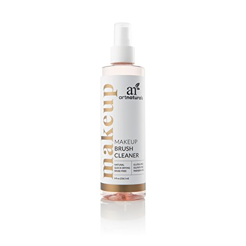 ArtNaturals Professional Makeup Brush Cleaner – (8 Fl Oz / 236ml) Spray – Removes Residue and Oils in a Quick Fashion for Smooth Application – Daily Essential Natural Solution for Powder and Creams