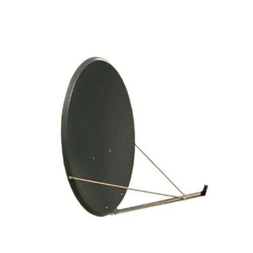 Antenne PremiumX 120cm Alu in Anthrazit SAT Spiegel Schüssel Aluminium NEU