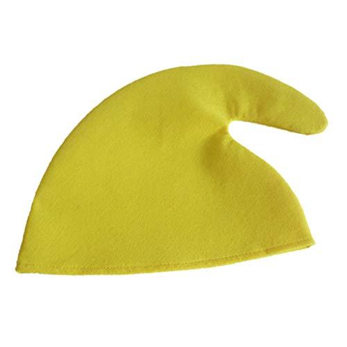 LOVIVER Weihnachten Thema Stoff Elf Hut Tuch Cap Weihnachten Urlaub Party Kostüm - Gelb