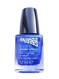 Mosaic Effects Top Coat Nail Enamel x 12ml - Blue Flash