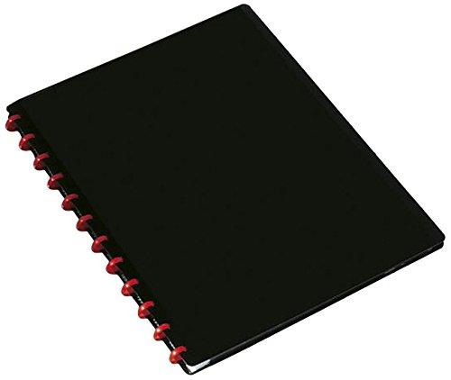 DURABLE Protege-documents DURALOOK Easy, avec 20 pochettes transparentes, noir, pour documents au format A4, avec 20 pochettes interchangeables, le nombre de pochettes s'adaptent selon vos besoins, (2426-01)