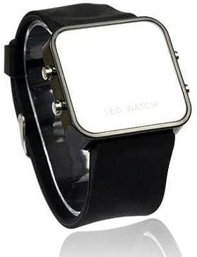 Design LED Armbanduhr mit Spiegelflächen Digitale Armbanduhr Unisex Geschenk