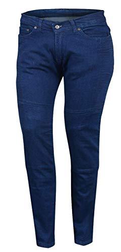 Bikers Gear Australia Limited Damen Stretch gefüttert mit Kevlar Motorrad Schutz Jeans mit abnehmbare CE Armour, blau, Größe 14