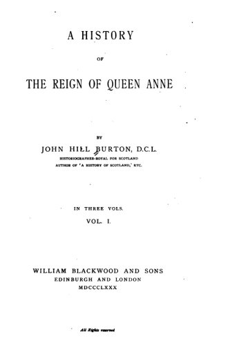 Queen Anne Hill (A History of the Reign of Queen Anne)