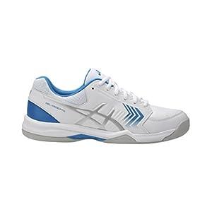 ASICS Herren Gel-Dedicate 5 Indoor Tennisschuhe, bleu Azur/Blanc