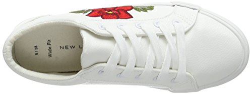 New Look Wide Foot Mitchy, Basses femme Blanc (Blanc)