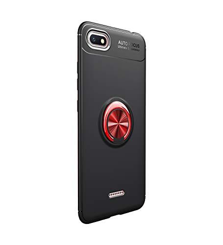 Funda Xiaomi Redmi 6/6A (2018) Teléfono Móvil Silicona Bumper Case Funda con Anillo Giratorio de 360 Grados Rotaria Ring Holder Protectora Caso (1, Xiaomi Redmi 6A)