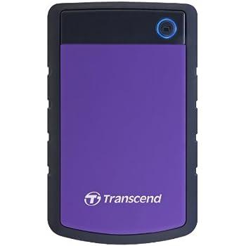 Transcend StoreJet 25H3P 1 TB Externe Festplatte (6,4 cm (2,5 Zoll), 5400 rpm, 8 MB Cache, USB 3.0) grau/violett