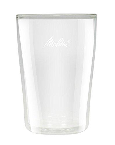 Melitta 2 Verres à Latte Macchiato, Double Paroi Isolante, Anti-Brulure, Adapté au Micro-Onde, 300 ml, Hauteur 13 cm, Pour Over