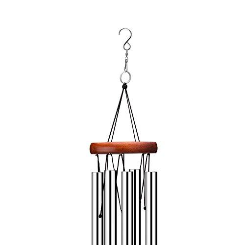 Klangspiel, Windspiel, 60cmmitS-Haken,AluminiumundHolzfürGarten - 3