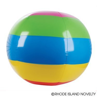 TWO GIANT INFLATABLE BEACH BALLS- JUMBO RAINBOW INFLATABLE BEACH BALLS Set of (2) 48'' INFLATE BALLS TRADITIONAL POOL PARTY FUN/FAVOR/GIFT/PLAY TOY PRIZE (TWO) by RN (Ball Beach 48)