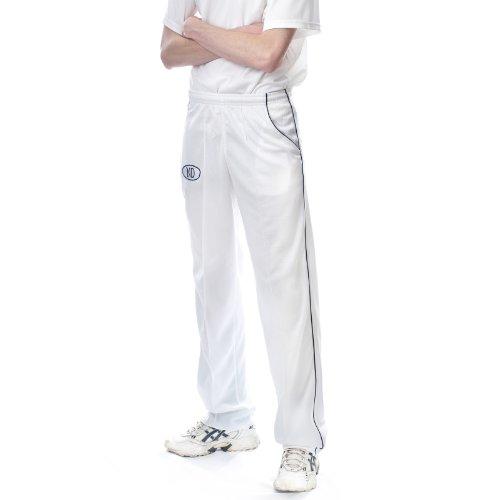 ND da uomo Cricket Whites Sport formazione Pantaloni Navy Piping