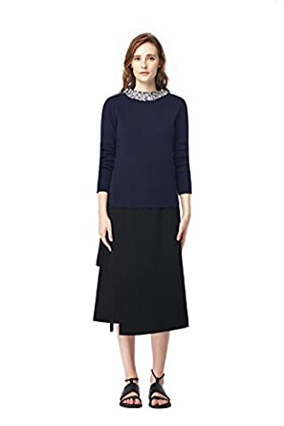 Good dress Pull en laine femmes pull-over,marine,M