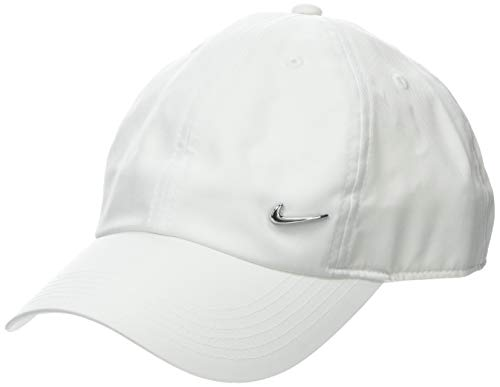 Nike Kinder Unisex Y NK H86 CAP SWOOSH Mütze, Weiß (white/Metallic silver), One size Design Damen Weste