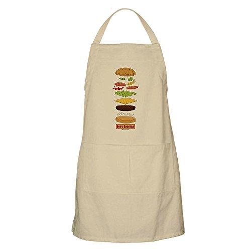 (CafePress Bob 's Burger gestapelt Burger–Küche Schürze mit Taschen khaki)