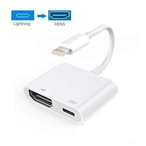 HDMI zu iPad Kabel Adapter, 1080 P Digital AV Adapter, Sync Screen HDMI Anschluss Kompatibel mit iPhone & iPad, Unterstützung iOS 11 und Vorhe