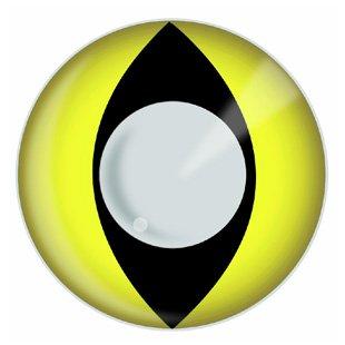 Cat Contact Lenses - Yellow Cat Eye - Pair Yellow Cat Eye Lenses