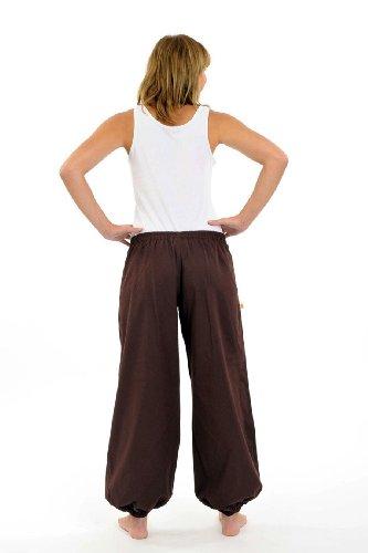 - Pantalon ethnique marron-chocolat Herza - Marron