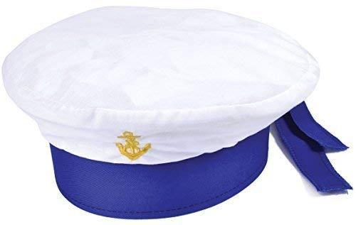 Fancy Me Mädchen Jungen Kinder Kinder Weiße Matrose Welttag des Buches Kostüm Zubehör Hut (Buch Kostüme Für Jungen)