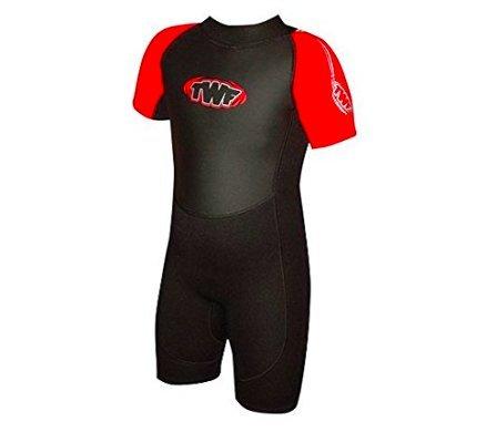Neopreno para niños de 5-6 años, (2,5mm), color negro y rojo