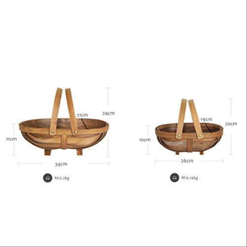 AZCEWBHO Holz Picknickkörbe Landschaft Stil Kuchen Tisch Dekorieren Tools Lebensmittel Fotografie Geschirr Boot Form Dessert Rack2-tlg