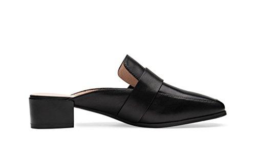 MSM4 Ms Muller Slipper Sandales Noir Blanc Black