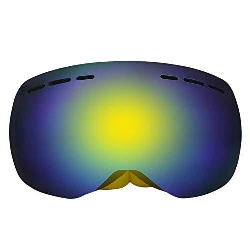 KUDYN 2019 Double Lens Sphärische UV400 Anti-Fog-Skibrille mit Schutzhülle Snow Sun Glasses Skiing Men Women,Yellow