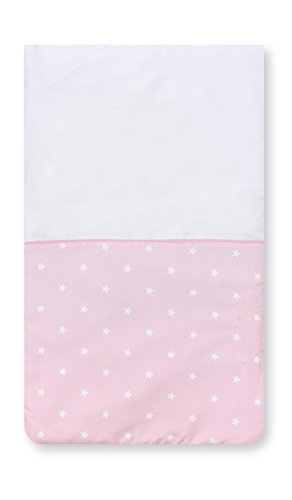 Pirulos 83300514 - Colcha con relleno minicuna stars, color blanco y rosa