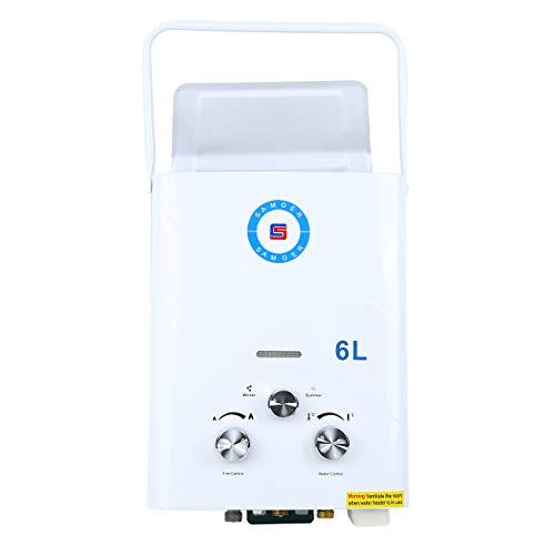 TryESeller 10L Sin tanque 2800Pa Calentador de agua LPG Quemador de agua de gas de petr/óleo licuado instant/áneo Kit de ducha