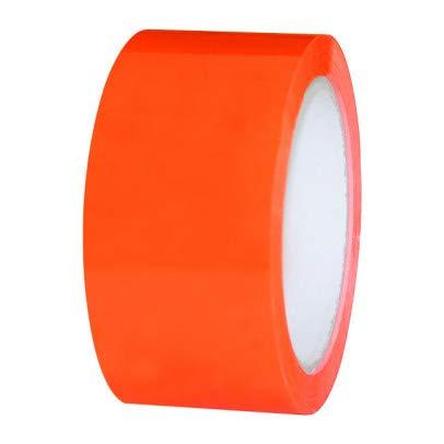 Enviro Pack - Klebeband ORANGE 50 mm x 66 m | bestens geeignet für Gewebe, Papier, PVC, Glas oder Metall - qualitativ, leise abrollend und alters beständig Klebeband orange