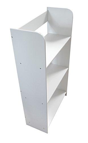 *Meuble De Rangement Bibliothèque Blanc 3 Casiers  3 Escalier Niveaux Bois Blanc Pour Les Livres et  Jouets Chambre d'Enfant Bibliothèque En Blanc Bois Magasin en ligne