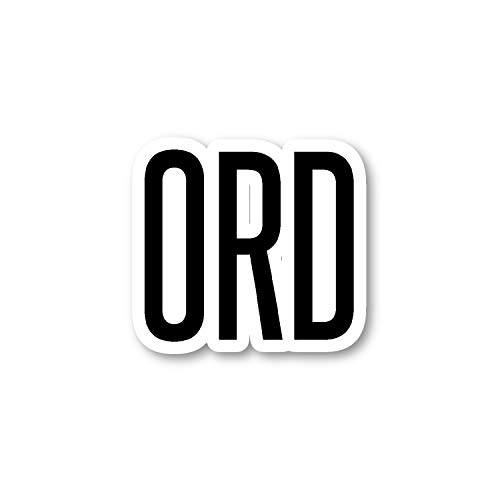 ORD Chicago Aufkleber Airport Codes S12165 - Laptop-Sticker - Vinyl-Aufkleber - Laptop, Handy, Tablet