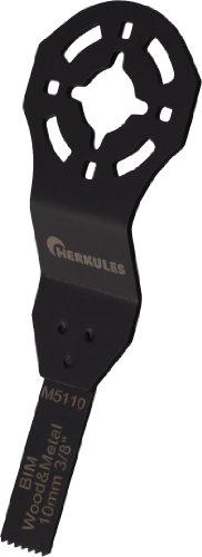 Herkules M5110 Lame de scie bimétal pour ponceuse vibrante multifonction sur bois, agglos, plastique, aluminium, tôle d'acier, métaux non ferreux 28 x 10 x 0,8 mm 18 dpp