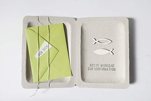 Konfirmation Geschenk Karte Geldgeschenk grün