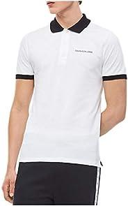 Calvin Klein Jeans Men's CONTRAST POLO SLIM STRETCH SS Polos, Black (Ck Black / White BAE), Me