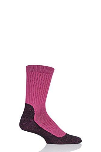 UpHill Sport Herren und Damen E8394 Hergestellt in Finnland 2 Schicht Laufen Socken Packung mit 1 Rosa 36-38