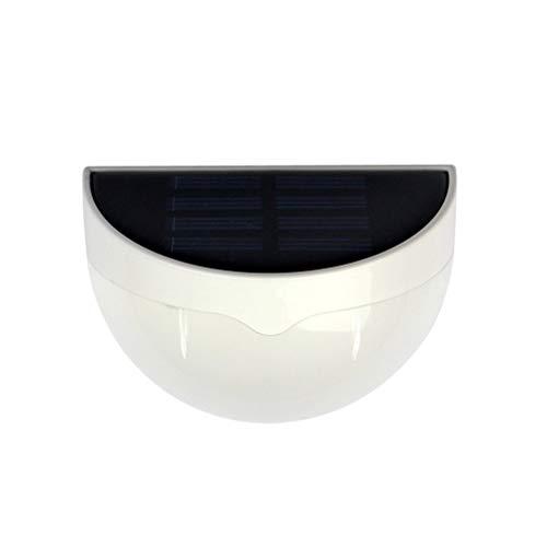 LEDMOMO Solar wandleuchte Halbkreisförmige LED Solar gartenzaun licht Licht für innen badezimmer außerhalb Büro Küche Korridor Flur Garage (weiß) (Solar-licht Außerhalb)