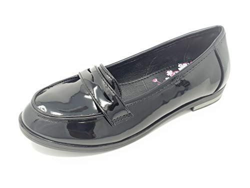 Loafer Flats Slip On Patent Leather School Shoes for Older Girls or Teens