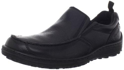 Hush Puppies Men's Belfast MT Slip-On Loafer, Black, 10.5 M US Black