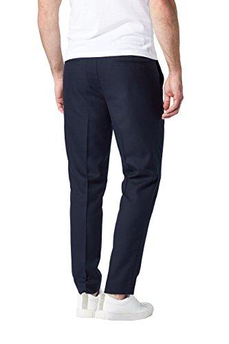 next Uomo Pantaloni Formali Con Pieghe Vestibilità Slim Blu Navy