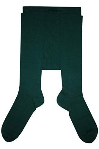 Weri Spezials Herrenstrumpfhose mit Eingriff Glatt in Grun Gr. 58-60